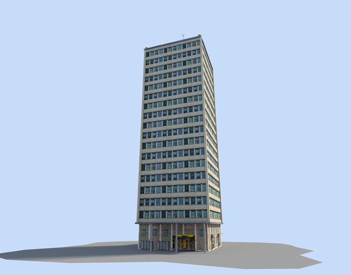 skyscraper 3d model low-poly obj 3ds fbx stl blend dae 1 ...