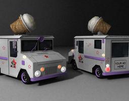 3D asset IceCream Truck