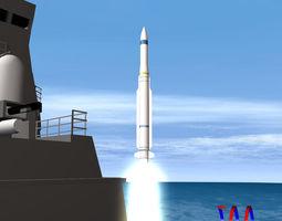3d model rim-162 essm missile