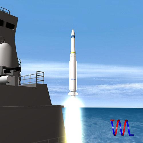 rim-162 essm missile 3d model obj mtl 3ds fbx dxf blend dae 1
