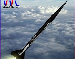 3D asset Black Brant II Sounding Rocket
