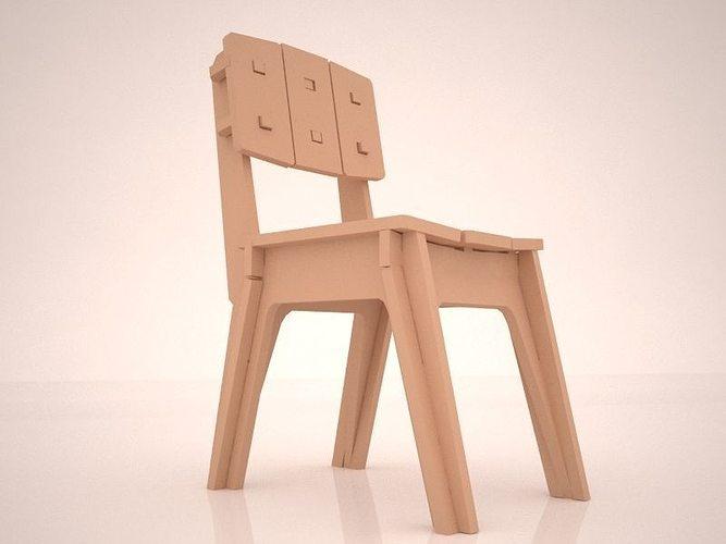 Good Modular Plywood Chair 3d Model Max Obj Fbx Mtl Mat 1 ...
