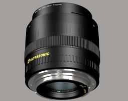 50mm Canon lens and lens cap 3D Model