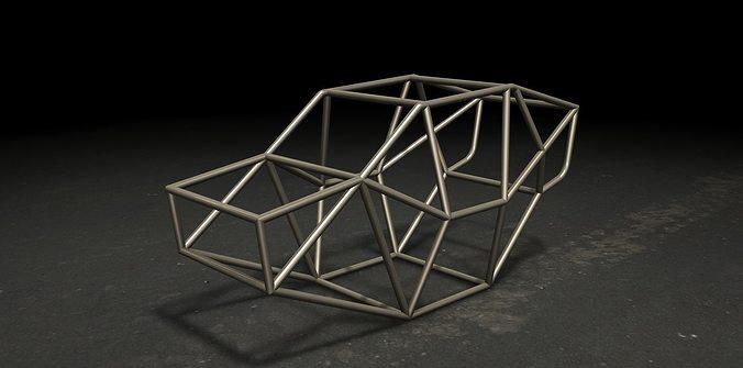 Tubular Chassis 3D model | CGTrader