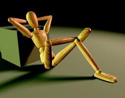 3D model WOODEN PUPPET