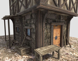 3d medieval city house