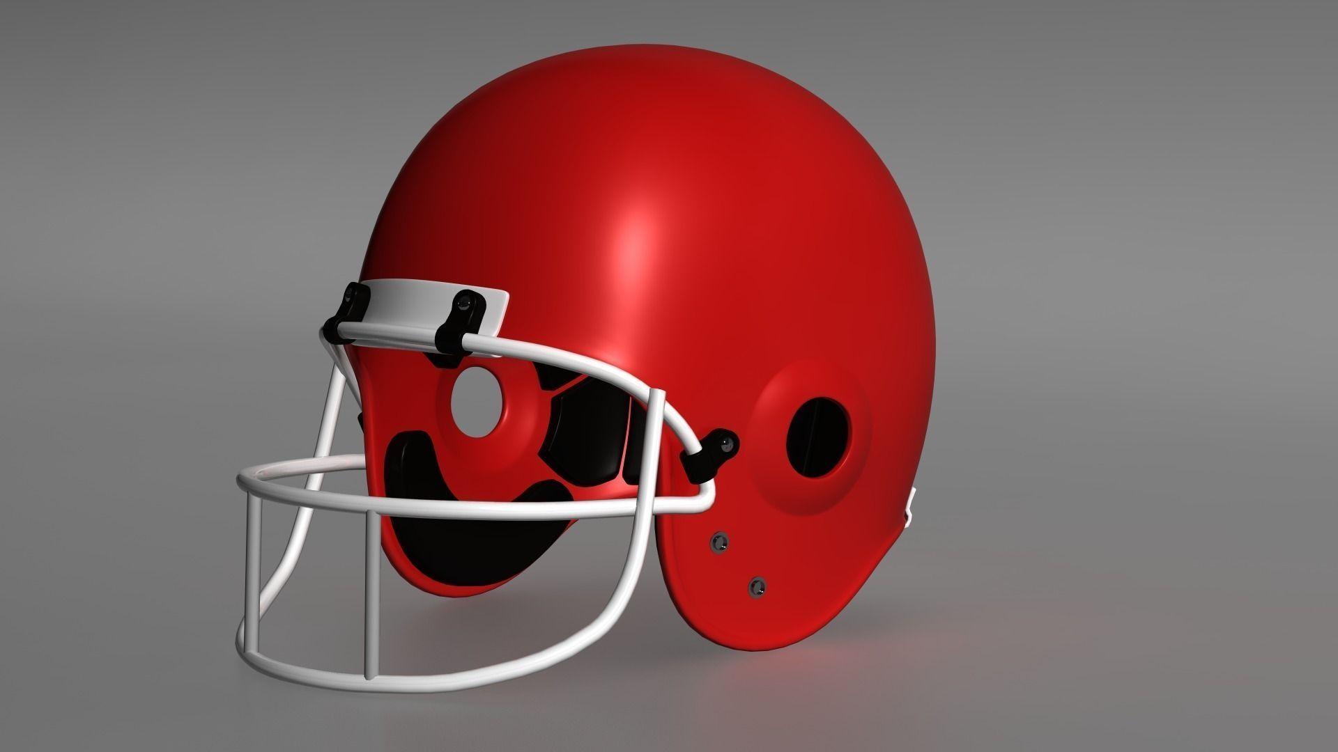 gridiron helmet 3d print model cgtrader