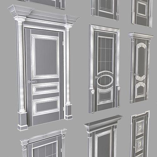 classic doors collection 3d model max obj 3ds fbx mtl 15 & Classic Doors Collection 3D model   CGTrader