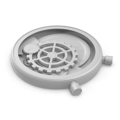 mechanical clock 3d model max obj mtl 1
