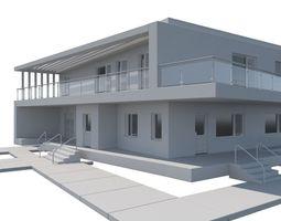 3D Modern Minimalistic House