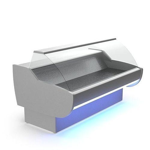 grocery fridge 3d model max obj mtl 1