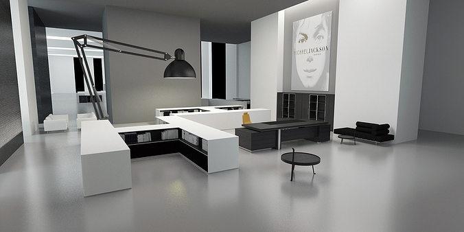 Modern Office Interior Intended Modern Office Interior 3d Model Max Modern Office Interior Commercial 3d Cgtrader