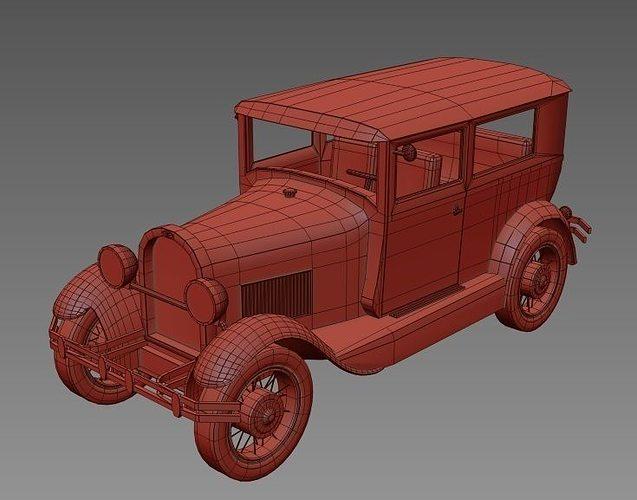 Classic Car 1929 3d Model Cgtrader