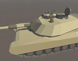 3d model m1 abrams cartoon style realtime