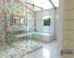 3D sanitary Bathroom