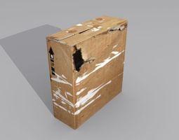3D asset Crate 5 cardboard box