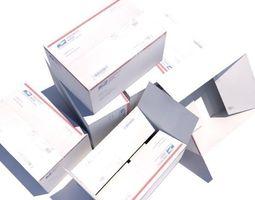 3D asset Crate 7 Cardboard shipping box