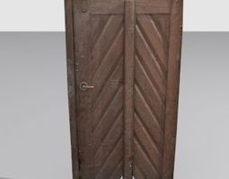 Door 1 Wood 3D asset