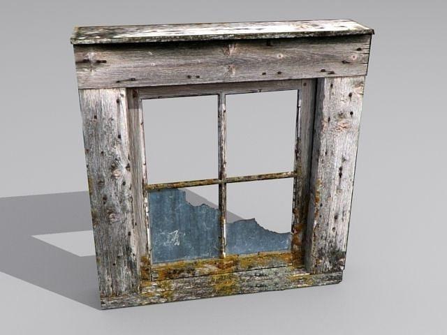 Window 2 Broken Glass 3d Asset Cgtrader