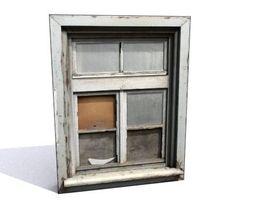 3D model Window 6 wooden