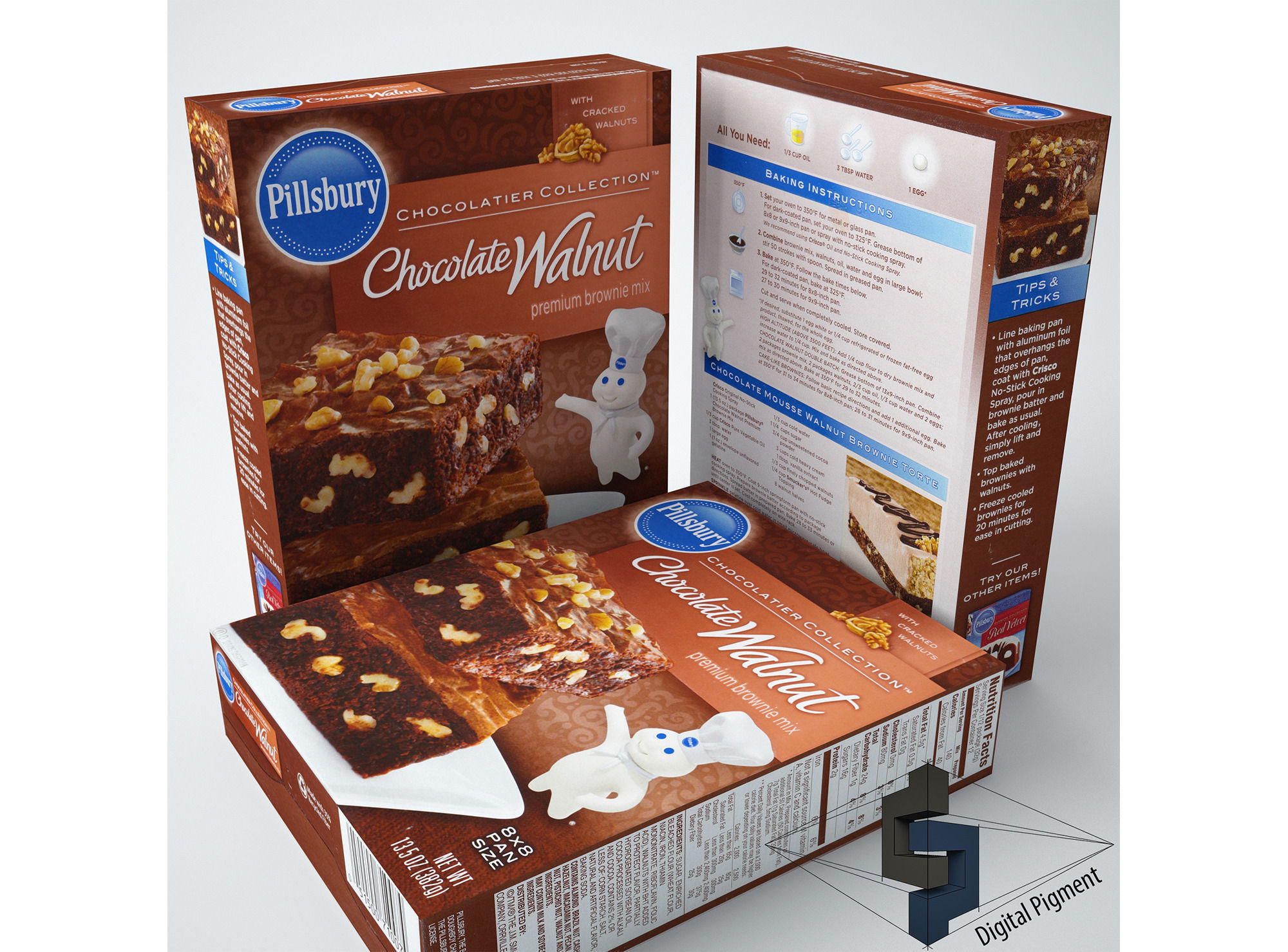 Pillsbury Chocolate Walnut Brownie Mix