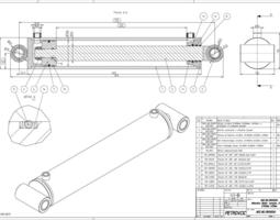 Hydraulic Cylinder Dwg Related Keywords & Suggestions