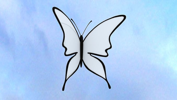 butterfly 3d model rigged animated max obj 3ds fbx ma mb dwg 1