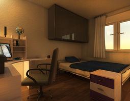 3d model mr preview bedroom