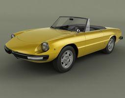classic-car Alfa Romeo Spider 3D