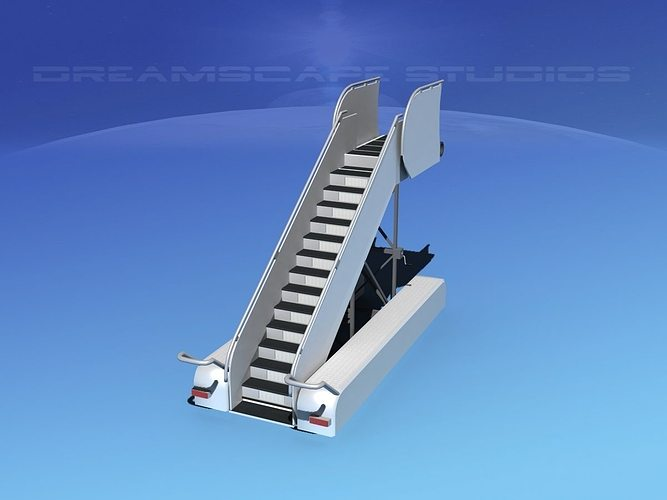 airport stairs 1 3d model rigged max obj 3ds lwo lw lws dxf stl 1
