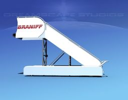 3d model rigged airport stairs braniff intl