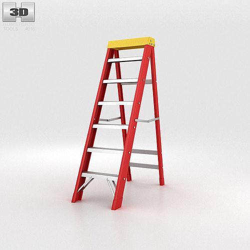stepladder 3d model max obj 3ds fbx c4d lwo lw lws 1