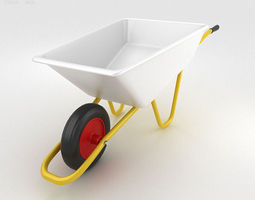 Wheelbarrow 3D model industrial