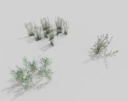 low poly grass pack 3D asset