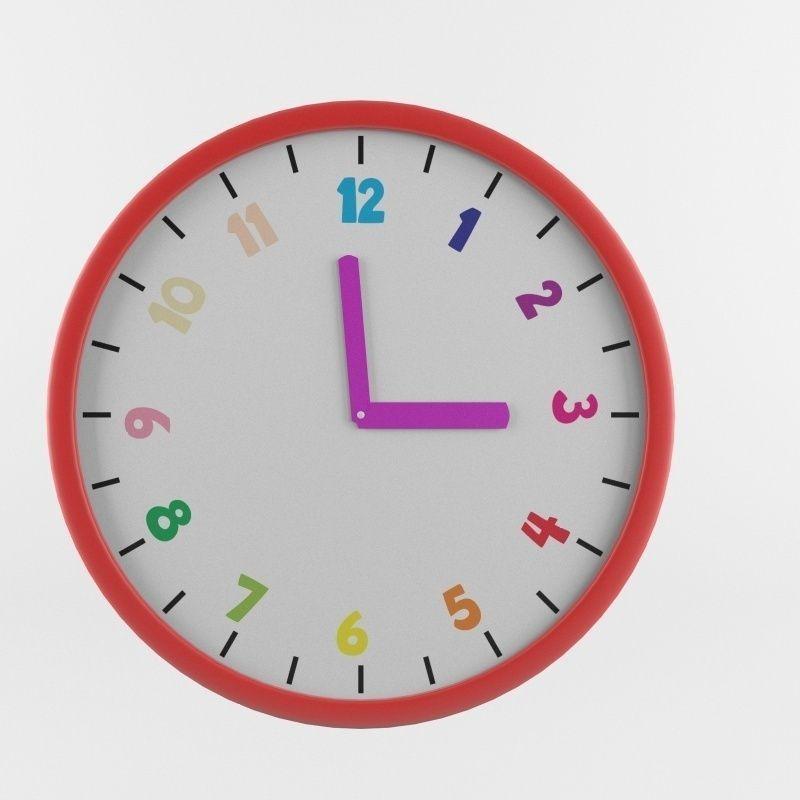 Childrens Wall Clock 3d Cgtrader