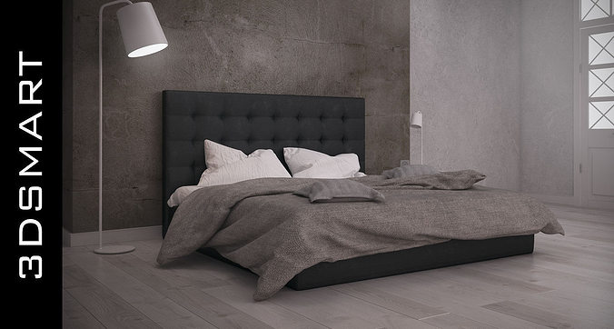 bed 3d model max obj fbx mtl 1