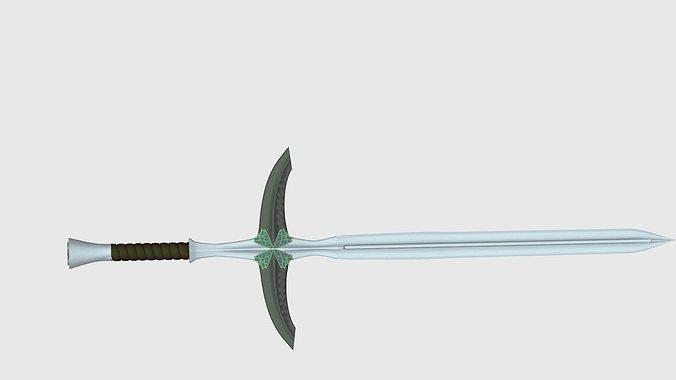 straight sword 3d model fbx c4d 1