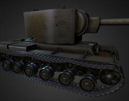 3D asset Kv-2 lowpoly textured