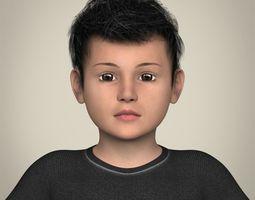 3D Realistic Little Boy
