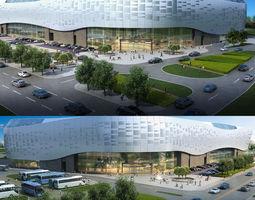 city shopping mall 048 3d