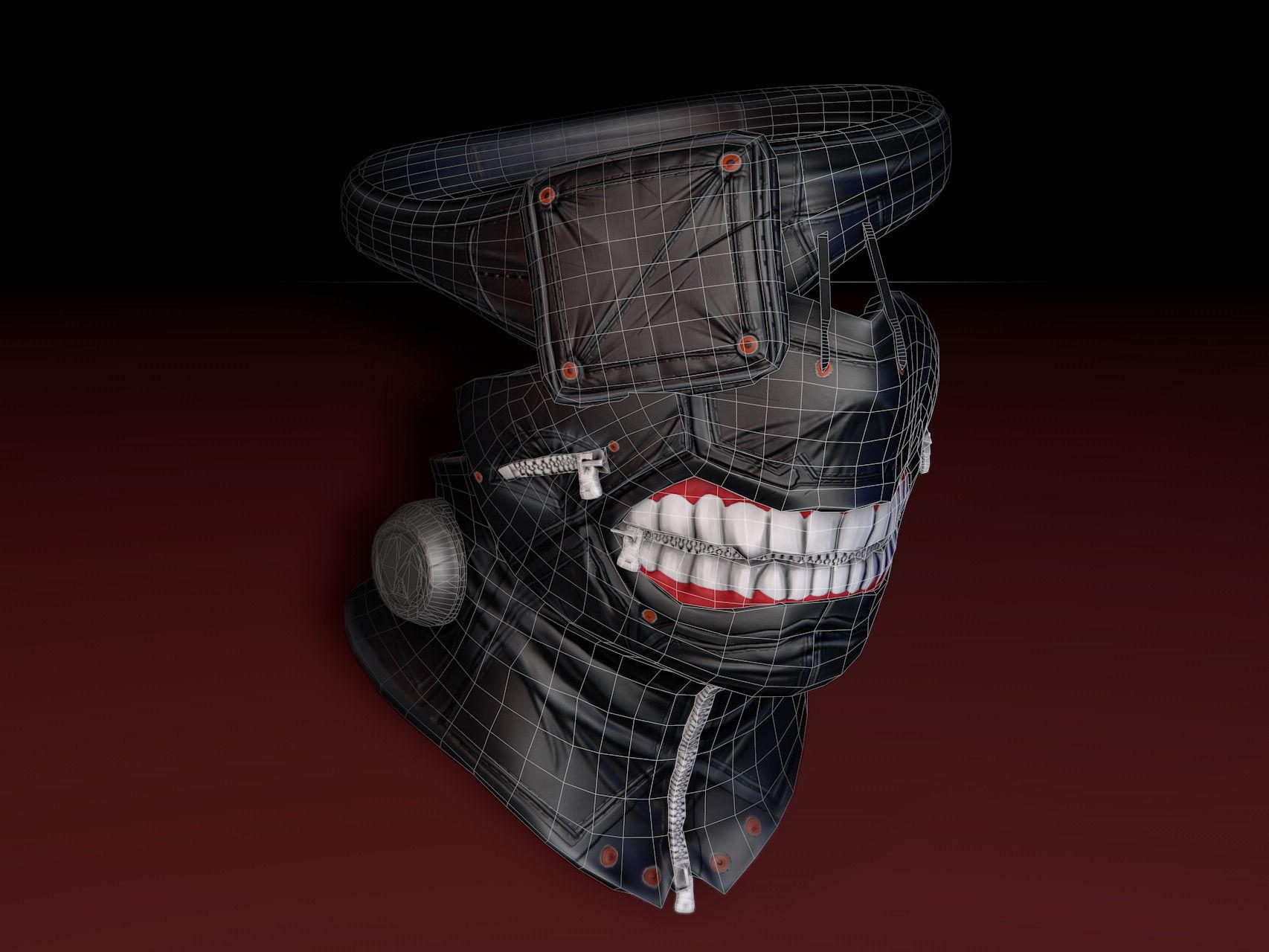 3d model tokyo ghoul mask cgtrader