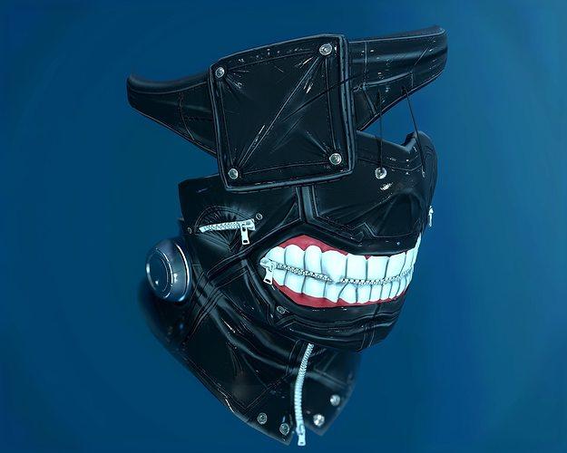 tokyo ghoul mask  3d model low-poly obj mtl 1