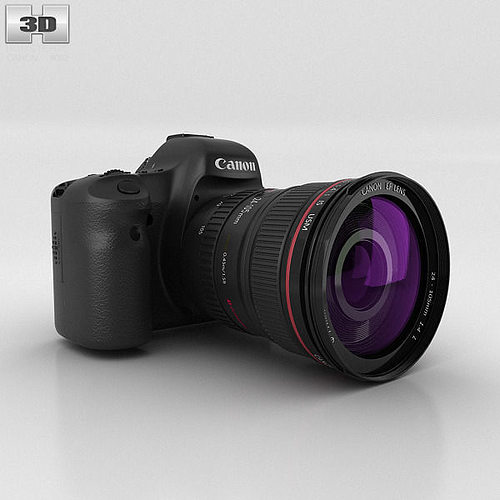 canon eos 6d 3d model max obj 3ds fbx c4d lwo lw lws 1