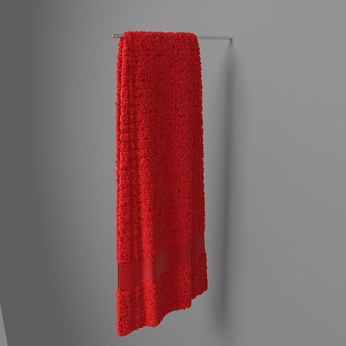 towel hung 3 3d model blend 1