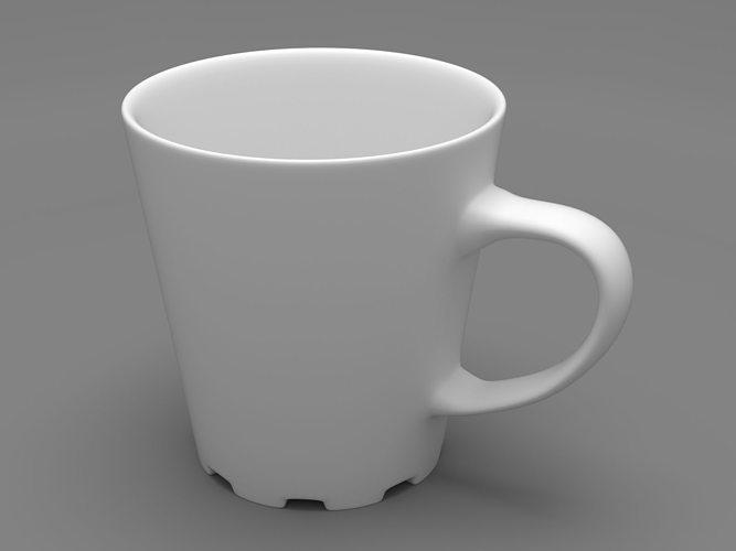 simple coffee mug 3d model obj mtl stl 1