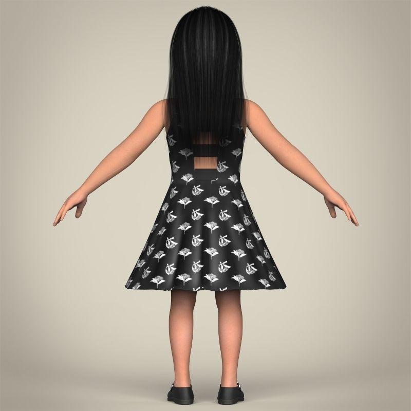 Realistic Pretty Lady 3D Model MAX OBJ 3DS FBX C4D LWO LW