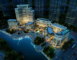 3d model city shopping mall 065