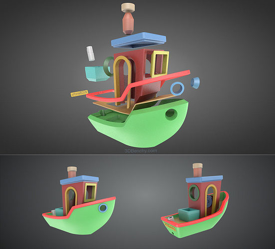3dbenchy - the jolly 3d printing torture-test 3d model stl 8