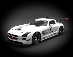 3d model mercedes-benz sls amg gt3 2013