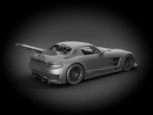Mercedes benz sls amg gt3 2012 3d model max c4d ma mb for Mercedes benz 2012 models